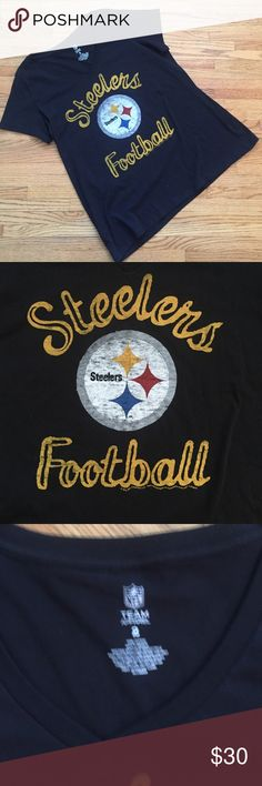 Torrid Steelers Tee Shirt New Without Tags Torrid T-Shirt, New, Never worn. No hang tags  🔵 YES I Bundle 🔴 NO I don't trade (I'm a recovering hoarder trying to clean out my closet) 🔵 I accept reasonable offers 🔴 NO low ball offers please 🔵 Please Use the Offer Button!    💜 Thank you for visiting my closet! 💜 torrid Tops Tees - Short Sleeve