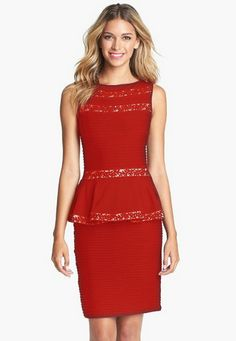 Embroidery Sheath Red Casual Dress - http://www.vudress.com/