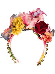 Shop online red Dolce & Gabbana appliquéd flower headband as well as new season, new arrivals daily. Dolce & Gabbana, Diy Headband, Flower Headbands, Flower Crowns, Flower Crown Headband, Headband Pattern, Baby Headbands, Hair Accessories For Women, Craft Stick Crafts
