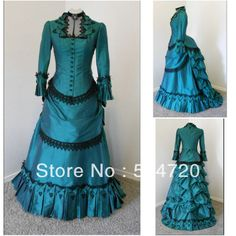 Blue Classical Vintage Gothic Lolita dress/victorian Southern belle dress Civil War Halloween dress All Size _ {categoryName} - AliExpress Mobile Version - Southern Belle Dress, Gothic Lolita Dress, Civil War Dress, Halloween Dress, Halloween 2018, Halloween Costumes, Medieval Dress, Vintage Costumes, Vintage Dresses