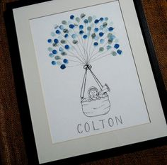 Baby Boy Baby Shower Thumbprint Guest Book- Great gift for Mom-to-Be on Etsy, $50.00