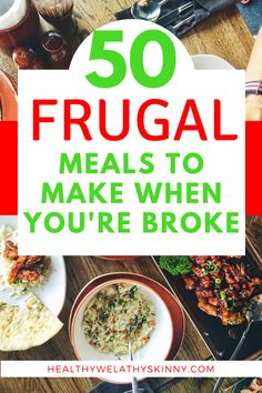 When looking for ways to save money, reducing your grocery bill is a good place to start. View 50 frugal meals you can make when you're broke. Budget Freezer Meals, Frugal Meals, Budget Recipes, Frugal Tips, Monthly Meal Planning, Budget Meal Planning, Healthy Meals To Cook, Healthy Recipes, Money Saving Meals