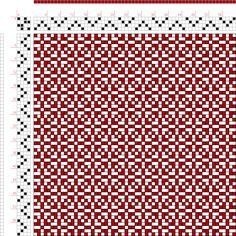 Weaving Draft Page 191, Figure 16, Donat, Franz Large Book of Textile Patterns, Germany, 1895, #29116