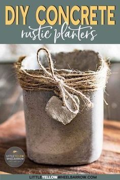 These concrete pots are easy to make over a weekend and require no special molds or expensive tools. These make adorable herb pots or table centerpieces. #shapecrete #herbpots #cement #concrete #weekendprojects #gardeningideas