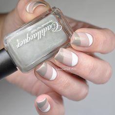 U White Nail Designs, Beautiful Nail Designs, Nail Art Designs, White Nails, Pink Nails, Hair And Nails, My Nails, Garra, French Nails