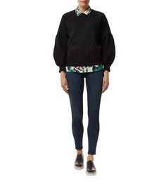 Burberry Puff Sleeve Sweatshirt Black|Harrods.com