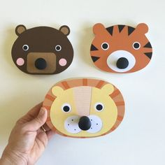 These incredibly sweet Animal Wall Hooks will add a touch of fun and function to your child's space. Choose your child's favorite animal or bring all three friends into your home.DIMENSIONS:Bear: 5 x 4 x 1 5 x 4 x 1 6 x 4 x 1 Each animal is hand Childrens Wall Art, Childrens Room Decor, Baby Room Decor, Kids Decor, Nursery Decor, Panda Nursery, Animal Nursery, Zoo Nursery, Nursery Wall Hooks