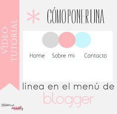 ¿Cómo poner una línea en el menú de blogger? - Creative Mindly
