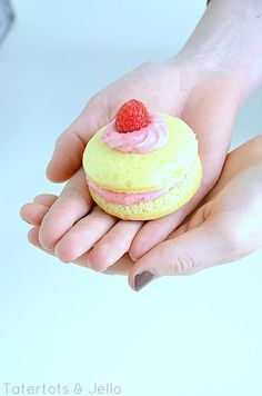 lemon whoopie pies with fresh raspberry filling at Tatertotsandjello.com