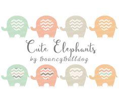 #Elephant #clipart #chevron #pink #baby #shower #nursery #little #girl #animals #vintage #colors #digital elephants #clip #art #commercial #use by BouncyBulldog on Etsy https://www.etsy.com/listing/228681714/elephant-clipart-chevron-pink-elephant