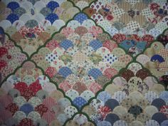 Clamshell quilt pattern