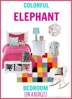 Colorful Girl's Elephant Bedroom Ideas On A Budget