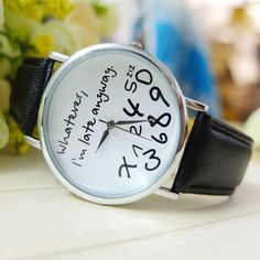 Outdoor Sports Watch Novel design Hot Women Leather Watch Whatever I am Late Anyway Letter Watches New bbk yj