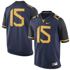 West Virginia Mountaineers Nike #15 Limited Football Jersey - Navy - $134.99