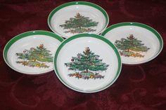 Spode Christmas Tree Butter Plate SetVintage by VintageCastaways