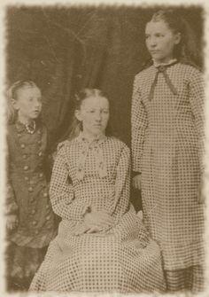 "Caroline Celestia ""Carrie"", Mary Amelia, and Laura Elizabeth Ingalls"