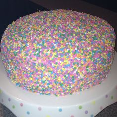 Sprinkle explosion cake for my daughter's 16th Birthday!