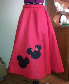 Mickey And Minnie Mouse Poodle Skirt By VintageVibesByKat 3000