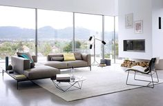 Modular sofa / contemporary / leather / multiplace JAAN by Eoos Walter Knoll Sofa Design, Furniture Design, Condo Living, Upholstered Furniture, Apartment Design, Contemporary Furniture, Contemporary Apartment, Interior Design Living Room, Designer
