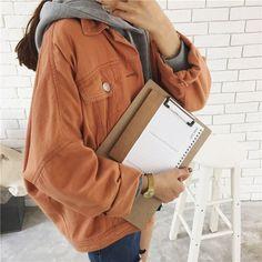 "Korean students jean jacket   Coupon code ""cutekawaii"" for 10% off"