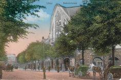 Bahnhofplatz1901. Libau. Postcard.