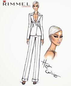 Hayden Williams Fashion Illustrations: Rimmel London fashion and beauty look for LFW day 4: Rita Ora