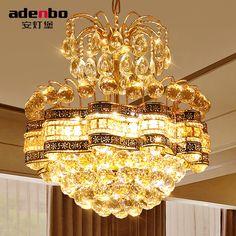 Modern Gold LED Crystal Chandeliers Light 48cm Ceiling Chandelier Fixtures For Dining Room Bedroom Lighting (ADB1189)