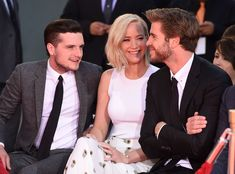 And there you have it. True love does exist, in the form of Jenliosh. | Jennifer Lawrence, Josh Hutcherson, And Liam Hemsworth Prove True Friendship Love Exists