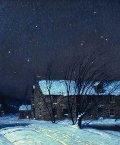 Image result for landscape nocturne snow