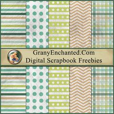 GRANNY ENCHANTED'S BLOG: Sunday's Guest Freebies ~ Free Digital Scrapbook Papers from GrannyEnchanted.Com