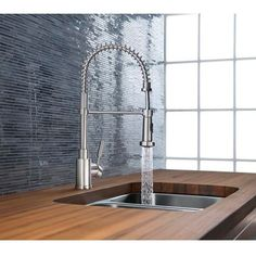 Best price to buy Blanco BLANCOMERIDIAN Semi Professional Kitchen Faucet 440558 online from our Exotic Home Expo website. See our other Blanco products. Butcher Block Countertops, Kitchen Countertops, Kitchen Backslash, Marble Countertops, Kitchen Appliances, Home Design, Modern Design, Blanco Faucet, Blanco Sinks