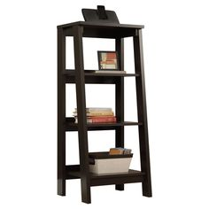 Accent Bookcase Contemporary Home Office Furniture Jamocha Wood Finish Discount Office Furniture, Dorm Furniture, Furniture Storage, Furniture Ideas, Contemporary Home Office Furniture, Contemporary Bookcase, Sauder Bookcase, Bookcases, Wood Shelves