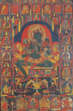 Pratapaditya Pal: An early Tibetan mandala of Ekallavira Achala in a private collection: An Art Historical Analysis Fig. 8: Goddess Tārā with Emanations, Buddhas and other Deities Central Tibet 1050-1100 122 x 80 cm.  John and Berthe Ford Collection, Baltimore, MD.
