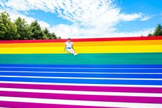 """""""FDR Four Freedoms State Park's Pride flag installation serves as both a symbol of solidarity with the LGBT+ community and a reminder of the collective progress still needed to achieve these four freedoms for all,"""" the conservancy continued."""