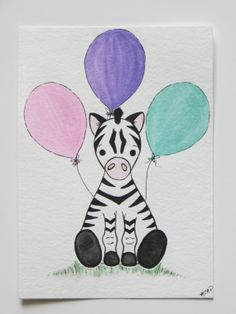 Watercolor painting nursery painting animal by Waterblooms on Etsy, $20.00