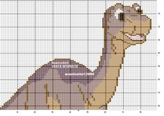 Dinosaur perler bead pattern by Mauricette