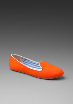 CHARLES PHILIP SHANGHAI Neon Brights Flat in Orange at Revolve Clothing