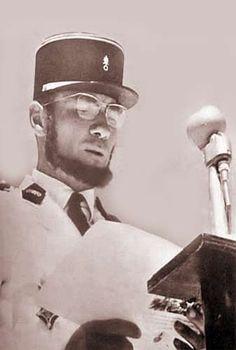 Lecture du récit de Camerone  par le Capitaine PEYRAMALE  lors des cérémonies de Camerone  le 30 avril 1958. Pin by Paolo Marzioli