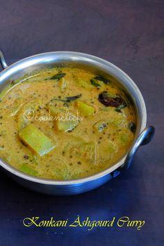 Konkani Ashgourd Curry/Kunvale Sasam - No Onion No Garlic