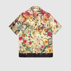 Men - Shirts for Men - Casual Shirts for Men Mens Smart Casual Outfits, Casual Shirts For Men, Casual Button Down Shirts, Men Casual, Casual Shoes, Bowling Outfit, Mens Bowling Shirts, Gucci Shirts, Men's Shirts