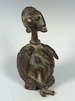 AFRICAN ART TRIBAL ART BRONZE DOGON STATUE FROM MALI