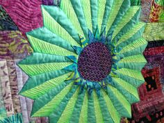 Kaffe Fassett Dresden. Machine quilting by Quilting Together with Mindy