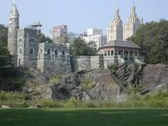 NYC. Central Park. Belvedere Castle sitting high atop Vista Rock