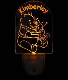 Disney Winnie the Pooh with Piglet Light Sensor LED Plug In