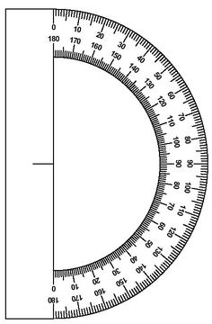How to use a protractor. Free worksheet with answer key