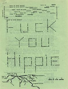 Diggers/Communication Company mimeographed handout, 1967  © Punk: An Aesthetic, edited by Johan Kugelberg and Jon Savage, Rizzoli 2012