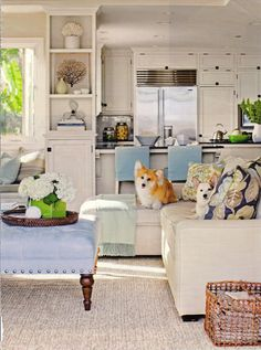 Great room.  Love the bookcase and built in window seat
