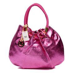 Michael Kors Marina Logo Large Pink Drawstring Bags