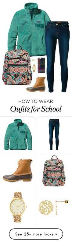 """""""School starts back on Monday... """" by sc-prep-girl on Polyvore featuring Patagonia, 7 For All Mankind, L.L.Bean, Vera Bradley, Kate Spade and Isaac Mizrahi"""