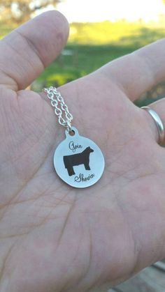 Show steer necklace Goin Showin https://www.etsy.com/listing/517423995/show-steer-goin-showin-charm-necklace